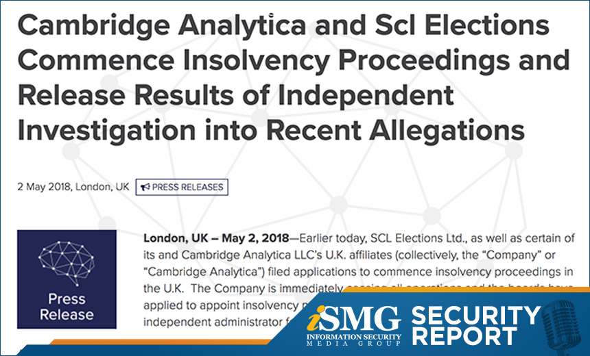 No Surprise: Cambridge Analytica Tries to Exit Data Scandal